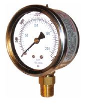 Liquid Filled Gauge with Bottom Mount